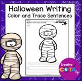 No Prep Halloween Coloring and Sentence Writing