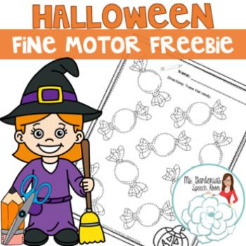 No Prep Halloween Fine Motor Freebie
