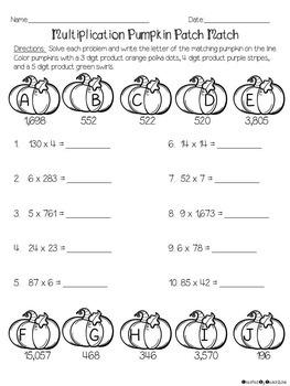No Prep Halloween Math Packet