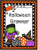 No Prep Halloween Grammar worksheets