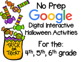 No Prep Halloween Interactive Google Activities