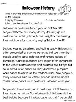 No Prep Halloween Literacy & Math Bundle