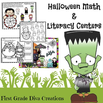 No Prep Halloween Math and Reading Printable Activities~Mo