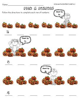 No Prep. Halloween Math for 1st and 2nd grade