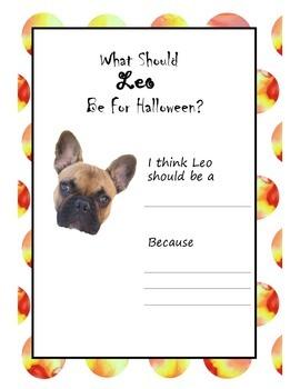 No Prep Halloween Puppy Writing Activity
