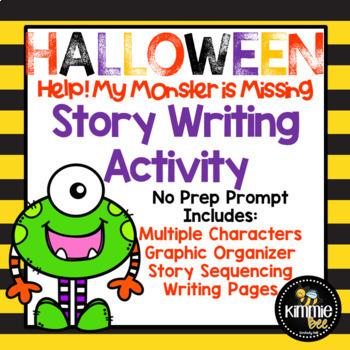 No Prep Halloween Story Writing Activity