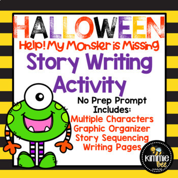 No Prep Halloween Story Writing Activity *ENGLISH AND SPANISH*