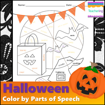 No Prep Halloween Parts of Speech Worksheet