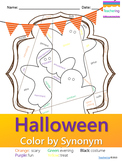 No Prep Halloween Synonyms Worksheet {Grade in seconds}