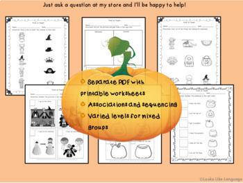 Halloween Social Routines NO Prep NO Print Adapted Digital Book