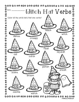 No-Prep Halloween Verb Practice