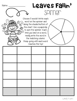 No Prep Fall Word Work Fun Activities - Word Study / Spelling / Sight Words