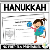 No Prep Hanukkah Activities