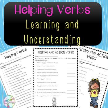 No-Prep Helping Verbs