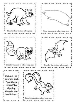 No Prep Hibernation Lesson/Activities for Pre-K/Early Elem.