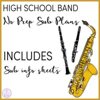 No Prep High School Band Sub Plans