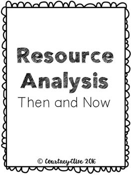 No Prep: History Resource Analysis - Then and Now