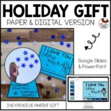 Holiday Parent Gift Flip Flap - No Prep Snow Globe Kisses