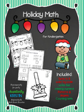 No Prep Holiday Math for Kindergarten