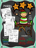 No Prep Holiday Sight Word Fun for First Grade