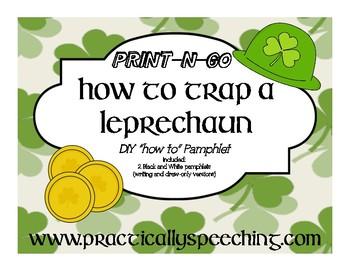 "No Prep ""How to Trap a Leprechaun"" Pamphlets *Print-n-Go*"