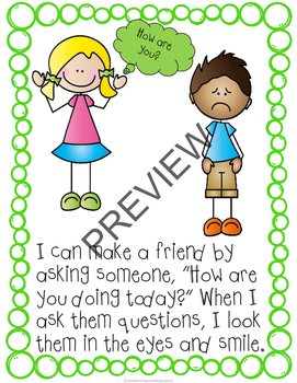 No-Prep: I Can Make Friends Social Story and Worksheet Bundle