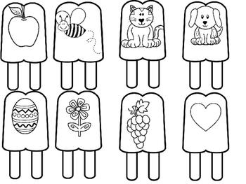 No Prep Ice Cream Alphabet Activities