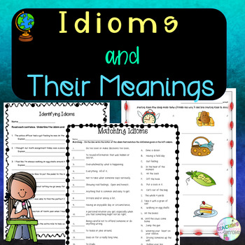 Match Idioms And Meanings Worksheets & Teaching Resources | TpT