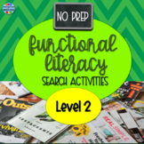No Prep Informational Text Search Activities - Level 2
