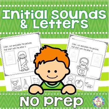 No Prep Initial Sounds & Letters