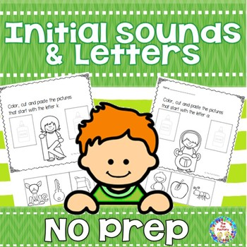 No Prep Initial Sounds and Letters