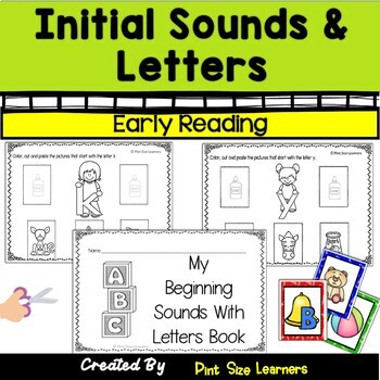 No Prep Initial Sounds and Letters Worksheets