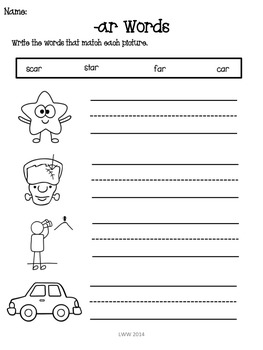 No Prep, Ink Friendly R Controlled Assessment Pack