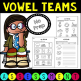No Prep, Ink Friendly Vowel Team Assessment Pack