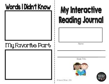 No Prep Interactive Reading Journal Freebie