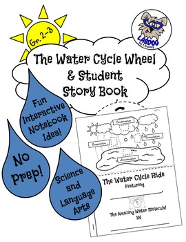Water Cycle Wheel and Student Story Book- No Prep & For Interactive Notebooks