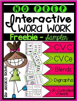 No Prep Interactive Word Work FREEBIE
