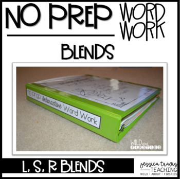 No Prep Interactive Word Work Printables ~ Blends