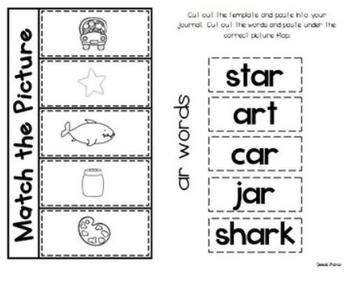 No Prep Interactive Word Work Printables ~ R Controlled Vowels