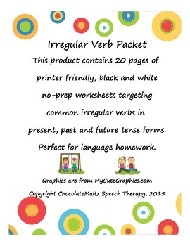 ‪Irregular Verb Worksheets