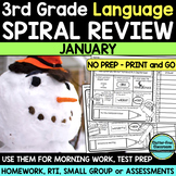 3RD GRADE Homework Morning Work for LANGUAGE & GRAMMAR - J