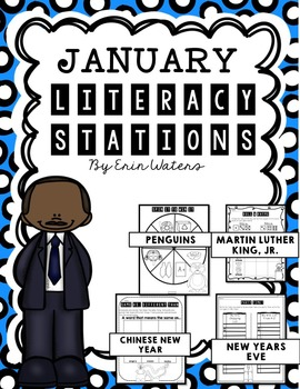 No Prep January Literacy Stations {Penguins, MLK, Chinese