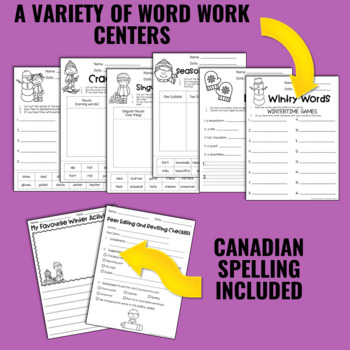 Writing and Word Work Package for January - NO PREP!