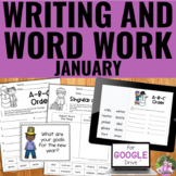 Writing and Word Work for January | Distance Learning | Go