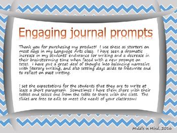 No Prep Journal Prompts: Nine weeks to stronger writers
