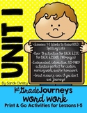 Journeys 1st Grade Unit 1 No-Prep Word Work {Sight Word & Spelling Lists}