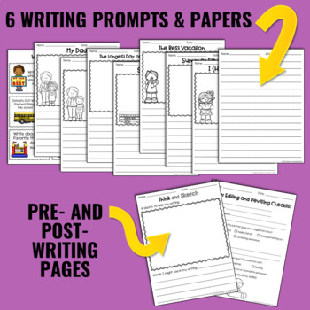 Writing and Word Work Package for June and July - NO PREP!