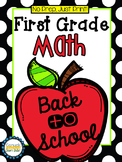 No Prep, Just Print! Back to School Math Pack First Grade