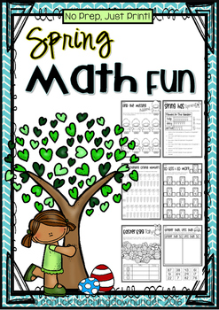 No Prep, Just Print! Spring, Easter and Earth Day Math Pack Grade 1