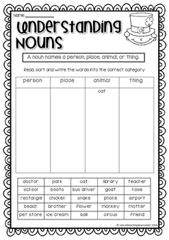 No Prep, Just Print! St.Patrick's Day Literacy and Math Pack Grade 1